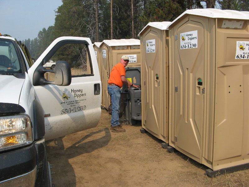 Idaho Fire Fighters Porta Potties